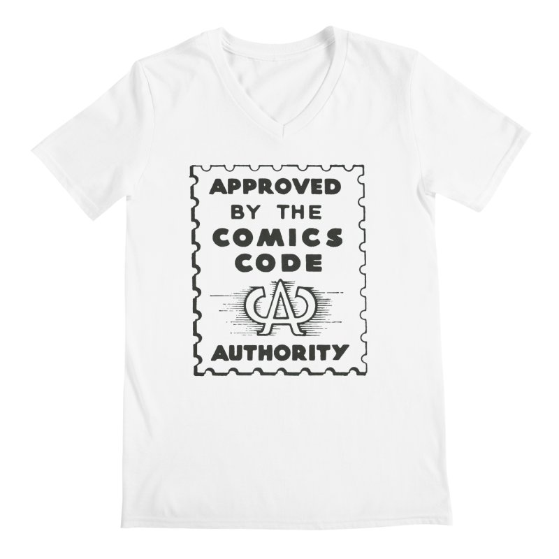 Comics Code Men's V-Neck by COMIC BOOK LEGAL DEFENSE FUND