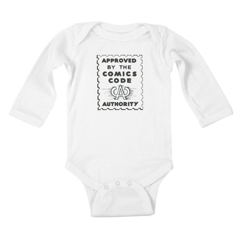 Comics Code Kids Baby Longsleeve Bodysuit by COMIC BOOK LEGAL DEFENSE FUND