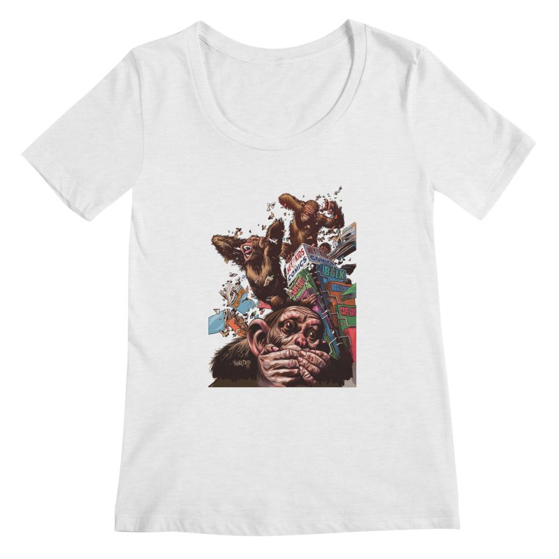 State of Things - Duncan Fegredo Women's Scoopneck by COMIC BOOK LEGAL DEFENSE FUND