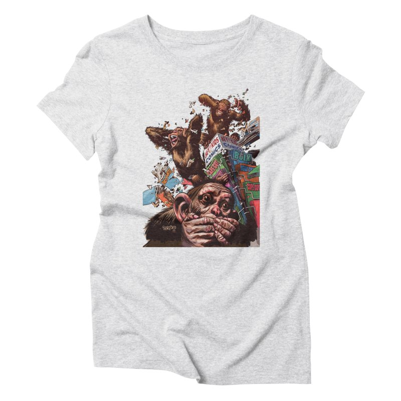 State of Things - Duncan Fegredo Women's Triblend T-shirt by COMIC BOOK LEGAL DEFENSE FUND