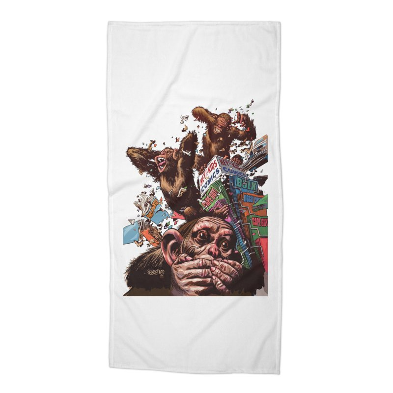 State of Things - Duncan Fegredo Accessories Beach Towel by COMIC BOOK LEGAL DEFENSE FUND