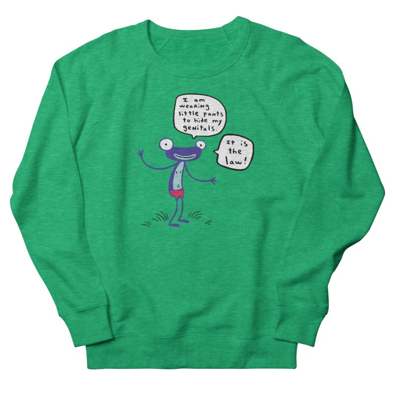 FANCY FROGLIN - James Kochalka Women's Sweatshirt by COMIC BOOK LEGAL DEFENSE FUND