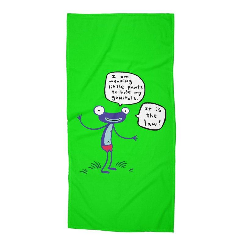 FANCY FROGLIN - James Kochalka Accessories Beach Towel by COMIC BOOK LEGAL DEFENSE FUND
