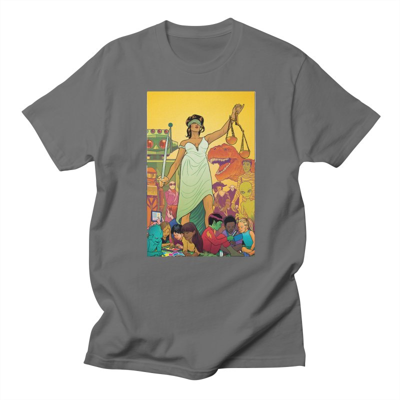 Lady Liberty - Michael Allred  Men's T-Shirt by COMIC BOOK LEGAL DEFENSE FUND