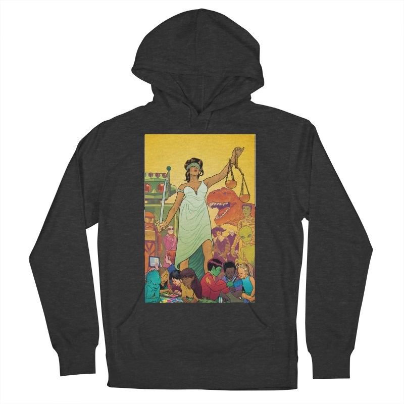 Lady Liberty - Michael Allred  Men's Pullover Hoody by COMIC BOOK LEGAL DEFENSE FUND