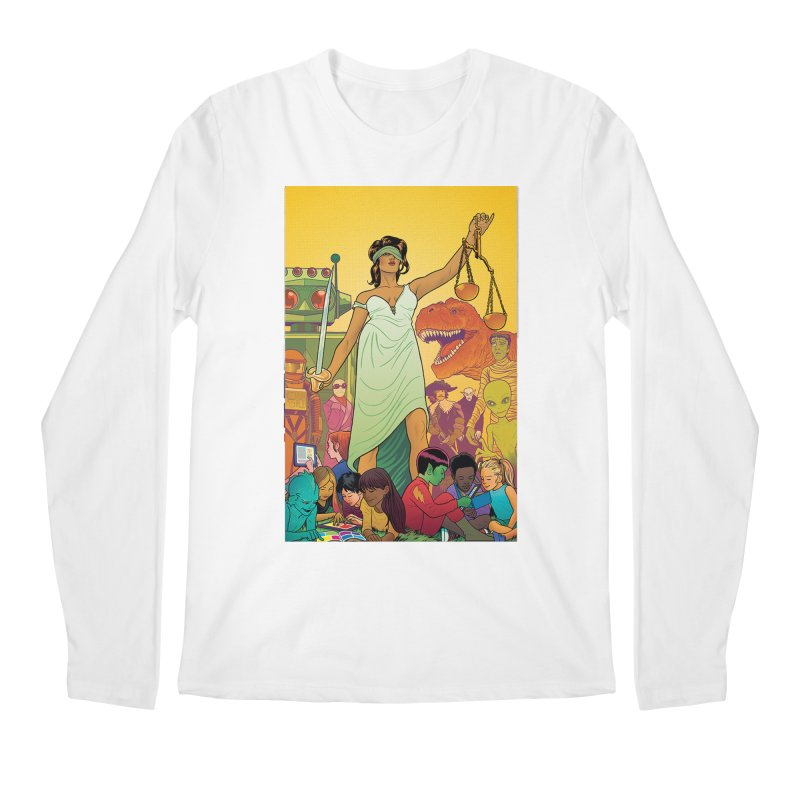 Lady Liberty - Michael Allred  Men's Longsleeve T-Shirt by COMIC BOOK LEGAL DEFENSE FUND