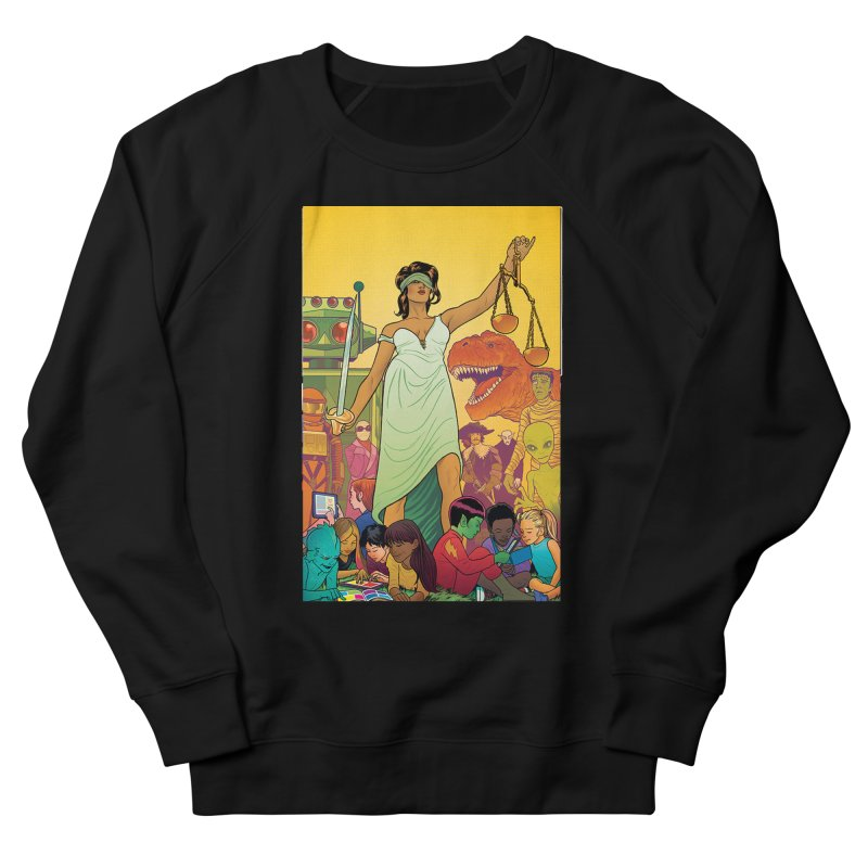Lady Liberty - Michael Allred  Women's Sweatshirt by COMIC BOOK LEGAL DEFENSE FUND