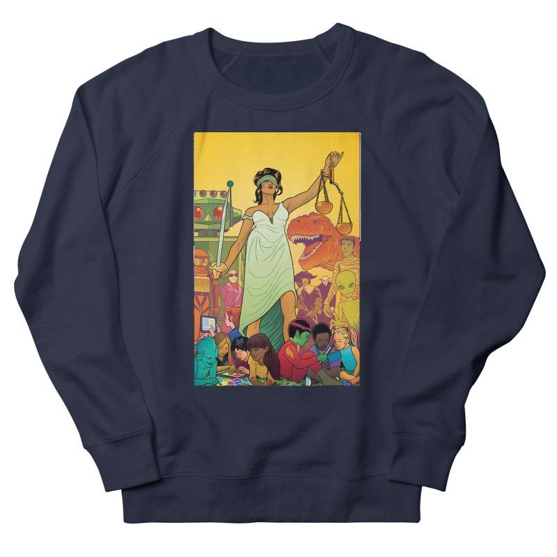 Lady Liberty - Michael Allred  Women's Sweatshirt by COMIC BOOK LEGAL DEFENSE FUND