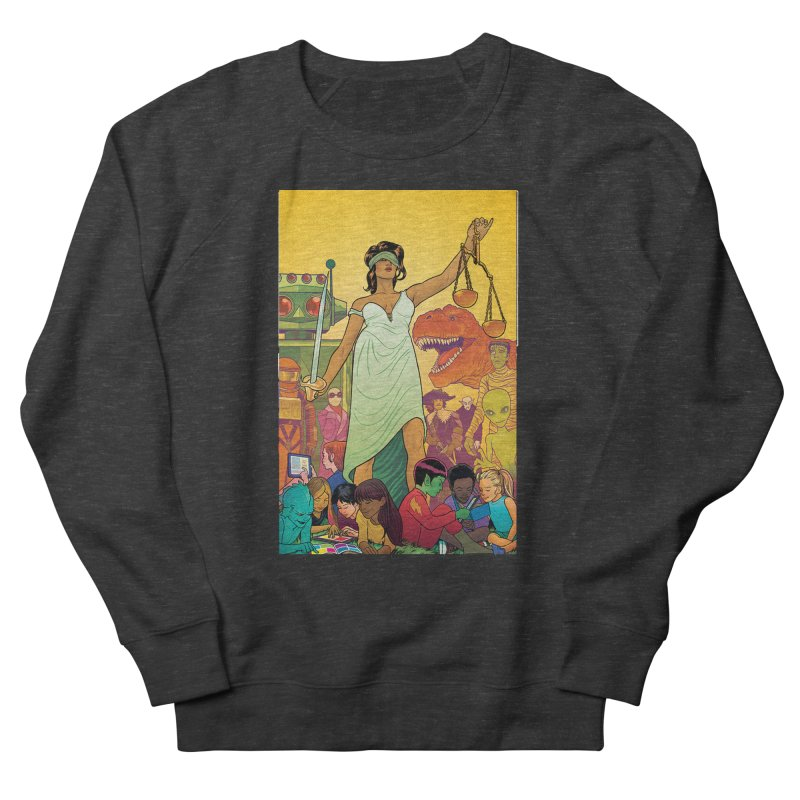 Lady Liberty - Michael Allred  Men's Sweatshirt by COMIC BOOK LEGAL DEFENSE FUND