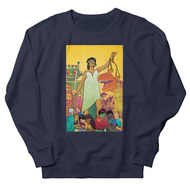 Lady Liberty - Michael Allred  Men's Sweatshirt by COMIC BOOK LEGAL DEFENSE FUND