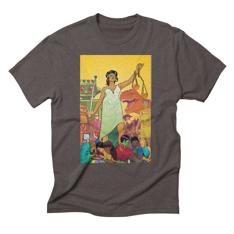 Lady Liberty - Michael Allred  Men's Triblend T-Shirt by COMIC BOOK LEGAL DEFENSE FUND