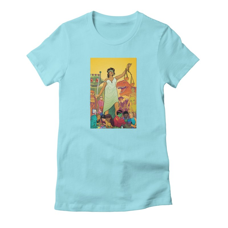 Lady Liberty - Michael Allred  Women's T-Shirt by COMIC BOOK LEGAL DEFENSE FUND