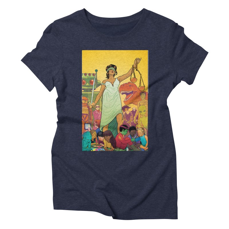 Lady Liberty - Michael Allred  Women's Triblend T-shirt by COMIC BOOK LEGAL DEFENSE FUND