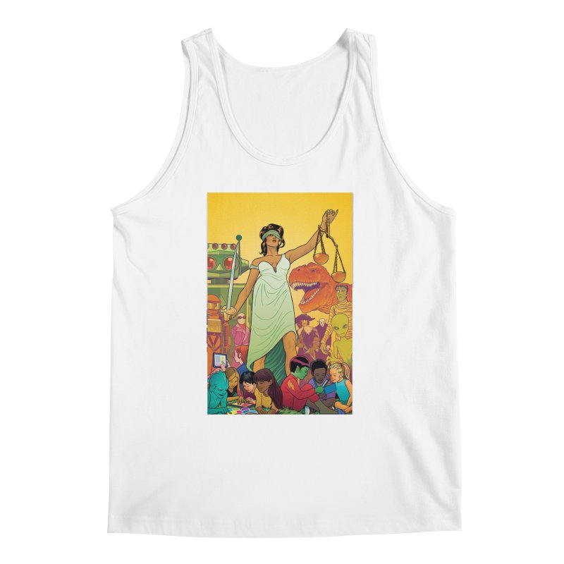 Lady Liberty - Michael Allred  Men's Tank by COMIC BOOK LEGAL DEFENSE FUND
