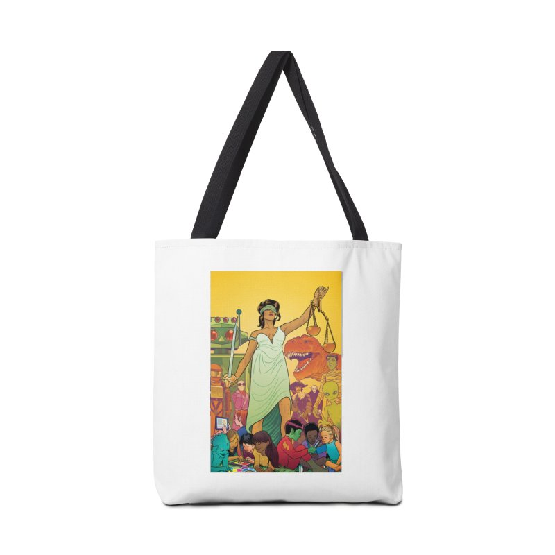 Lady Liberty - Michael Allred  Accessories Bag by COMIC BOOK LEGAL DEFENSE FUND