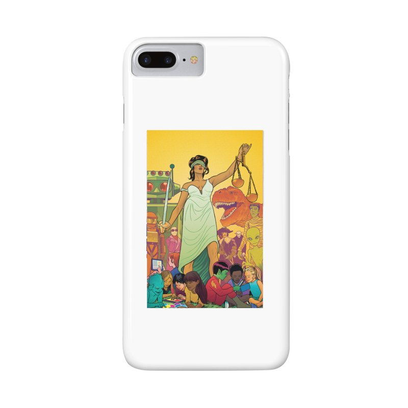 Lady Liberty - Michael Allred  Accessories Phone Case by COMIC BOOK LEGAL DEFENSE FUND