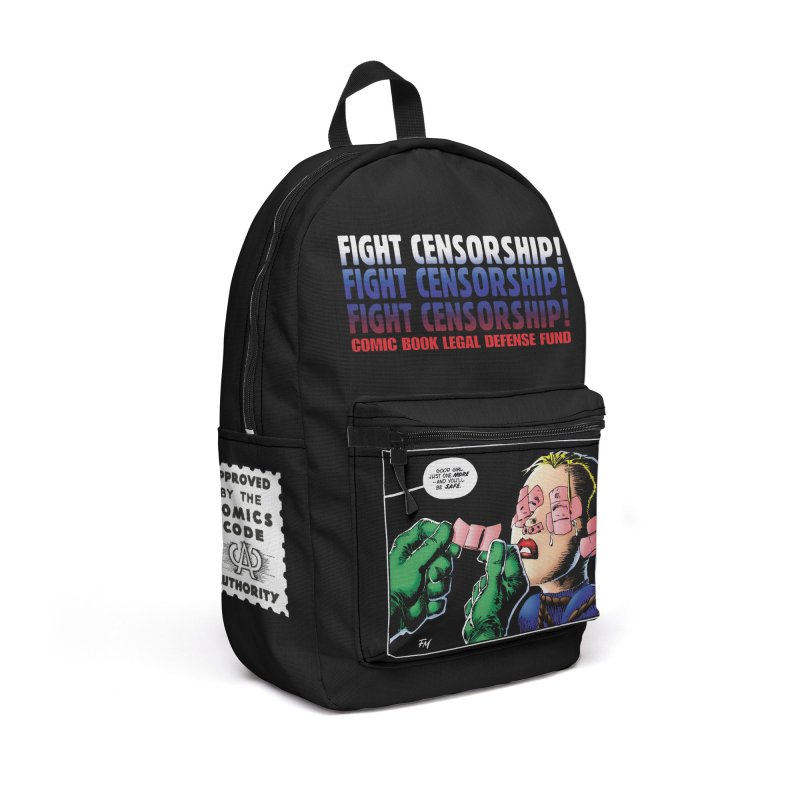 Just One More - Frank Miller in Backpack by COMIC BOOK LEGAL DEFENSE FUND