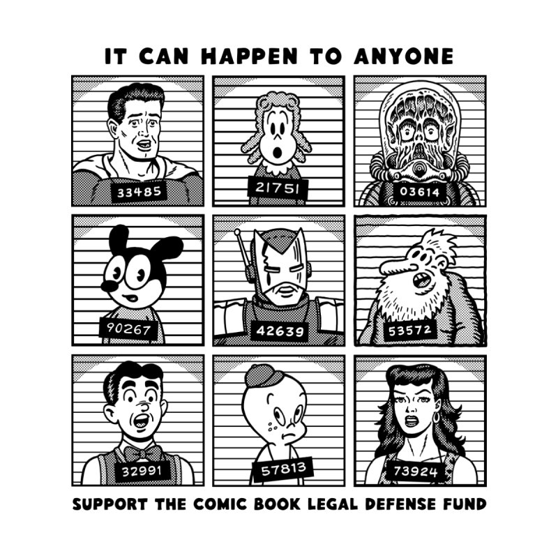 It Could Happen to Anyone - R Sikoryak   by COMIC BOOK LEGAL DEFENSE FUND