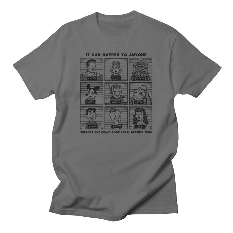 It Could Happen to Anyone - R Sikoryak Men's T-Shirt by COMIC BOOK LEGAL DEFENSE FUND