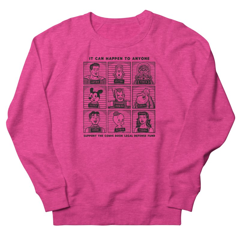 It Could Happen to Anyone - R Sikoryak Women's French Terry Sweatshirt by COMIC BOOK LEGAL DEFENSE FUND
