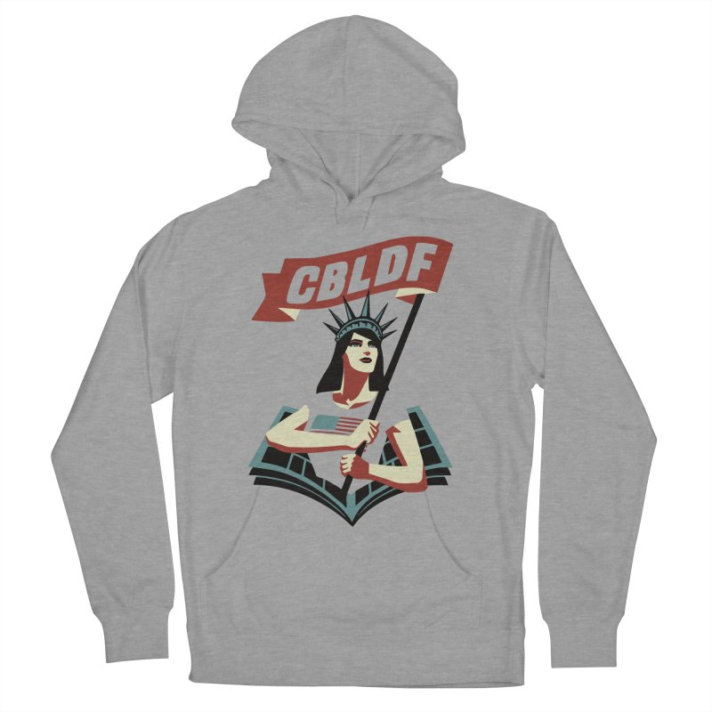 CBLDF Logo - Cliff Chiang Men's French Terry Pullover Hoody by COMIC BOOK LEGAL DEFENSE FUND