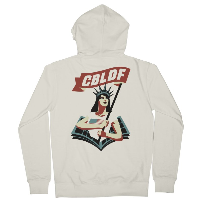 CBLDF Logo - Cliff Chiang Men's French Terry Zip-Up Hoody by COMIC BOOK LEGAL DEFENSE FUND