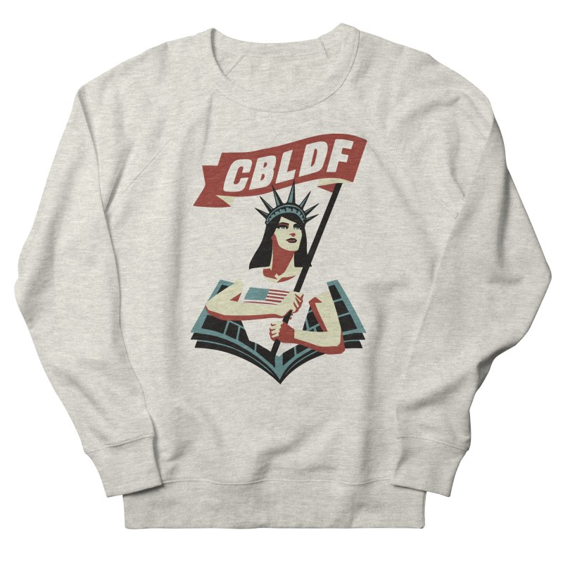 CBLDF Logo - Cliff Chiang Women's French Terry Sweatshirt by COMIC BOOK LEGAL DEFENSE FUND