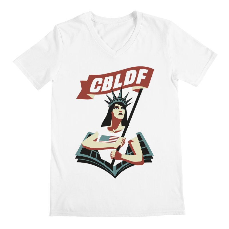 CBLDF Logo - Cliff Chiang Men's Regular V-Neck by COMIC BOOK LEGAL DEFENSE FUND