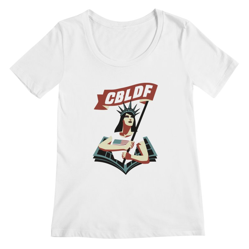 CBLDF Logo - Cliff Chiang Women's Scoopneck by COMIC BOOK LEGAL DEFENSE FUND