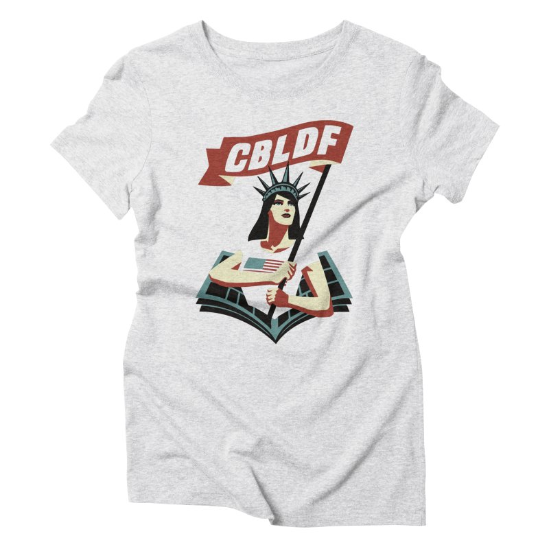 CBLDF Logo - Cliff Chiang Women's Triblend T-shirt by COMIC BOOK LEGAL DEFENSE FUND