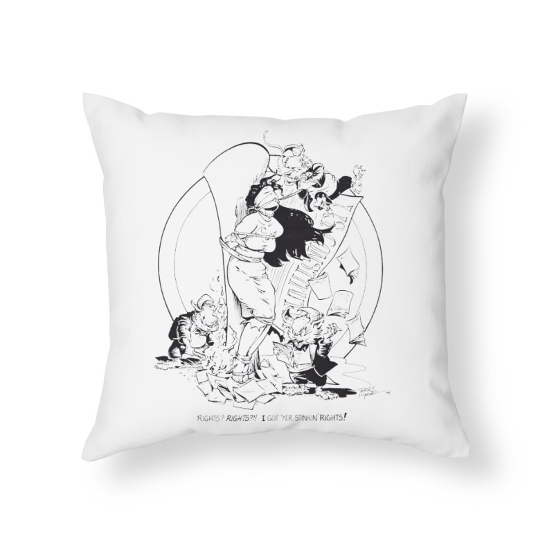 Terry Moore 1995 Home Throw Pillow by COMIC BOOK LEGAL DEFENSE FUND