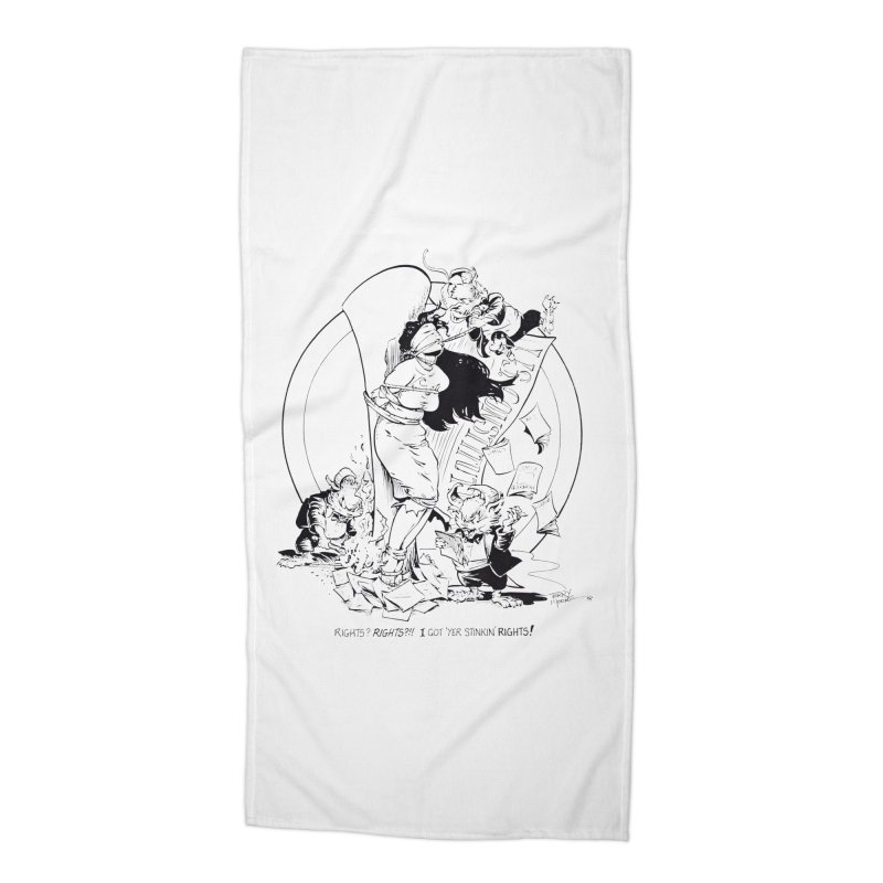 Terry Moore 1995 Accessories Beach Towel by COMIC BOOK LEGAL DEFENSE FUND