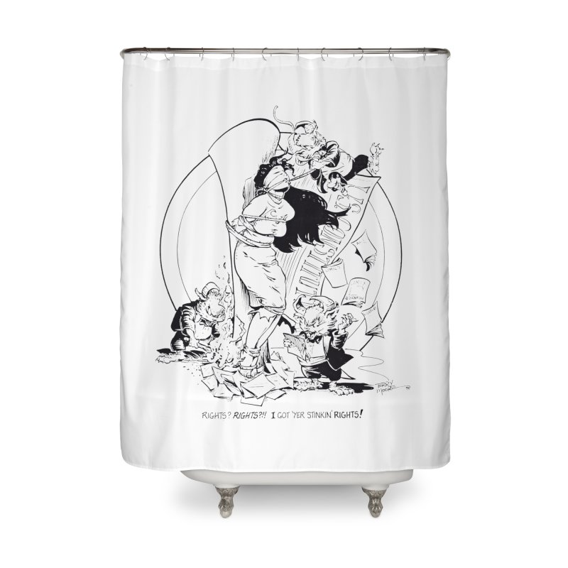 Terry Moore 1995 Home Shower Curtain by COMIC BOOK LEGAL DEFENSE FUND