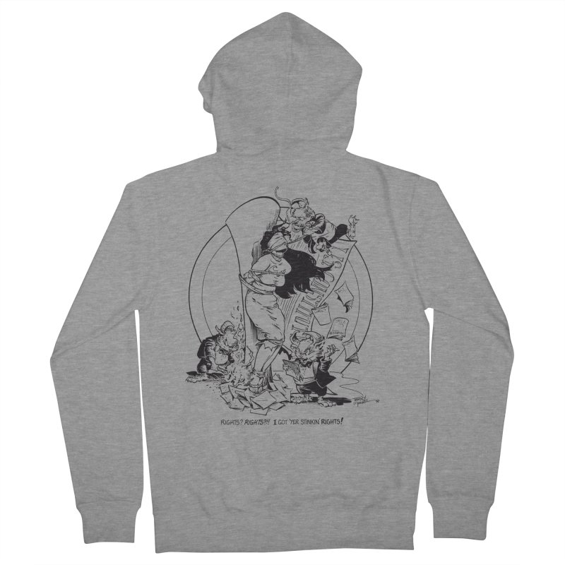 Terry Moore 1995 Men's French Terry Zip-Up Hoody by COMIC BOOK LEGAL DEFENSE FUND