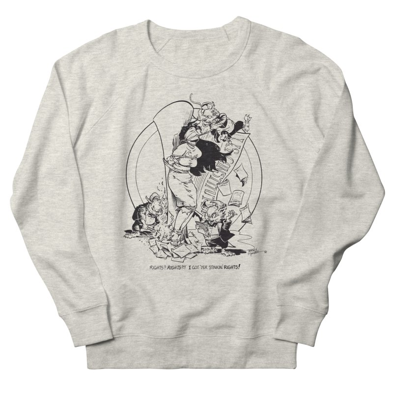 Terry Moore 1995 Men's French Terry Sweatshirt by COMIC BOOK LEGAL DEFENSE FUND