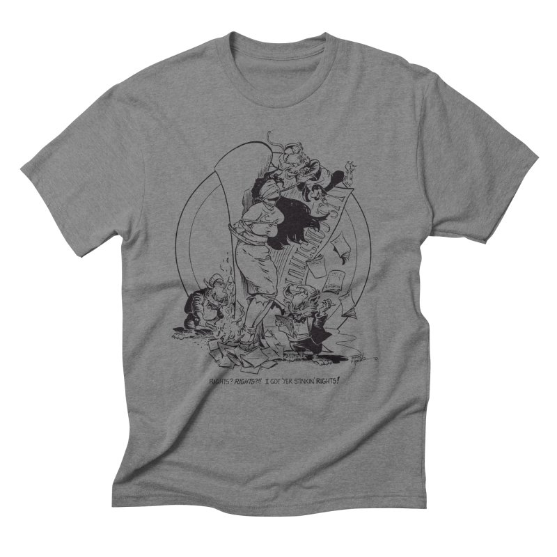 Terry Moore 1995 Men's Triblend T-Shirt by COMIC BOOK LEGAL DEFENSE FUND