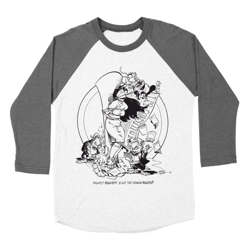 Terry Moore 1995 Women's Baseball Triblend T-Shirt by COMIC BOOK LEGAL DEFENSE FUND
