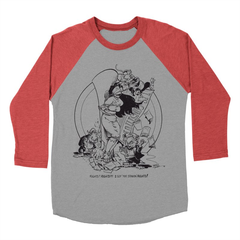 Terry Moore 1995 Women's Baseball Triblend Longsleeve T-Shirt by COMIC BOOK LEGAL DEFENSE FUND