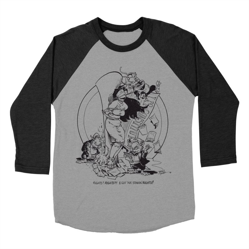 Terry Moore 1995 Men's Baseball Triblend Longsleeve T-Shirt by COMIC BOOK LEGAL DEFENSE FUND