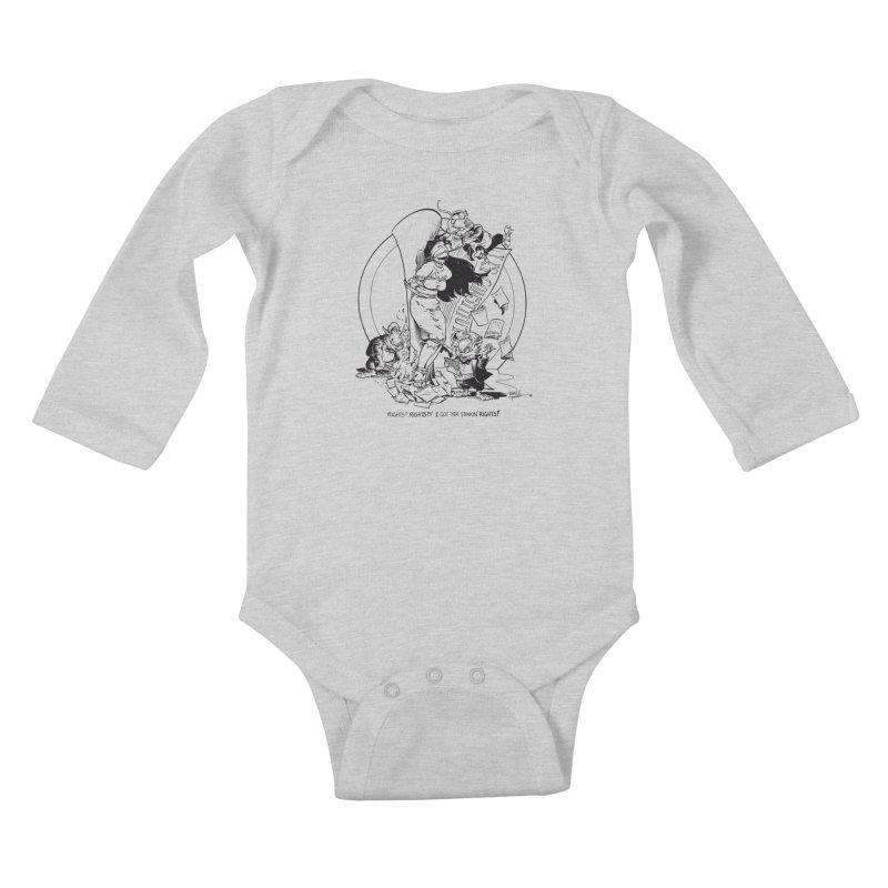 Terry Moore 1995 Kids Baby Longsleeve Bodysuit by COMIC BOOK LEGAL DEFENSE FUND