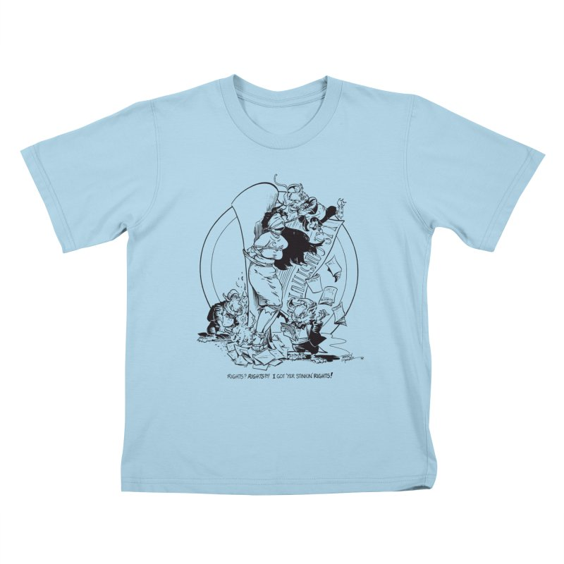 Terry Moore 1995 Kids T-Shirt by COMIC BOOK LEGAL DEFENSE FUND