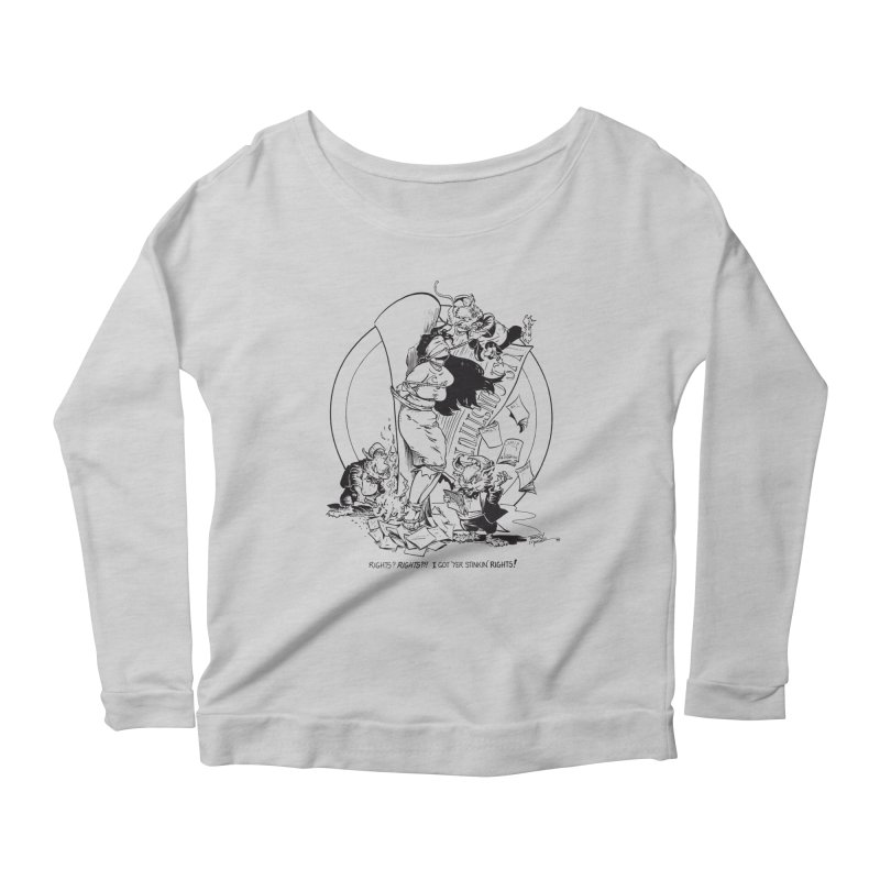 Terry Moore 1995 Women's Longsleeve Scoopneck  by COMIC BOOK LEGAL DEFENSE FUND
