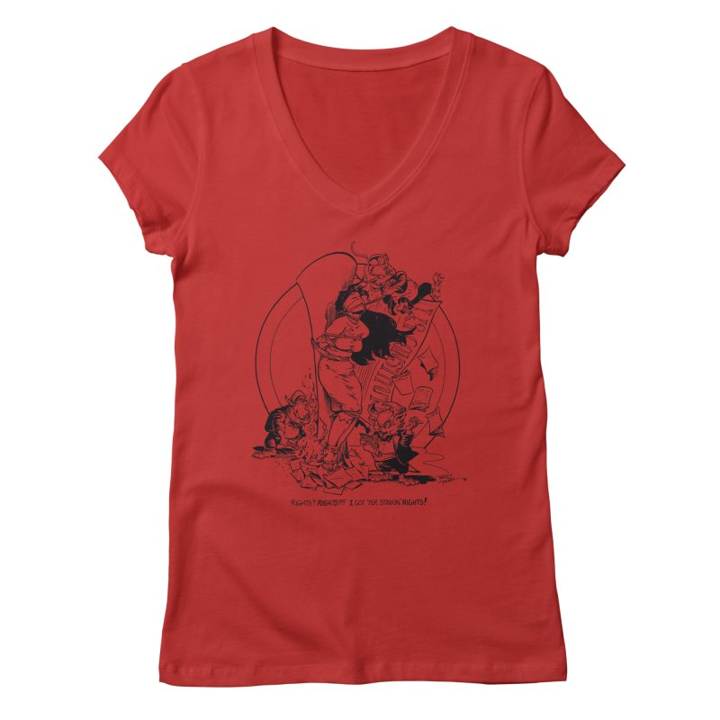 Terry Moore 1995 Women's Regular V-Neck by COMIC BOOK LEGAL DEFENSE FUND