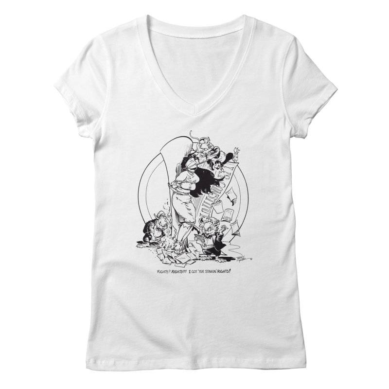Terry Moore 1995 Women's V-Neck by COMIC BOOK LEGAL DEFENSE FUND