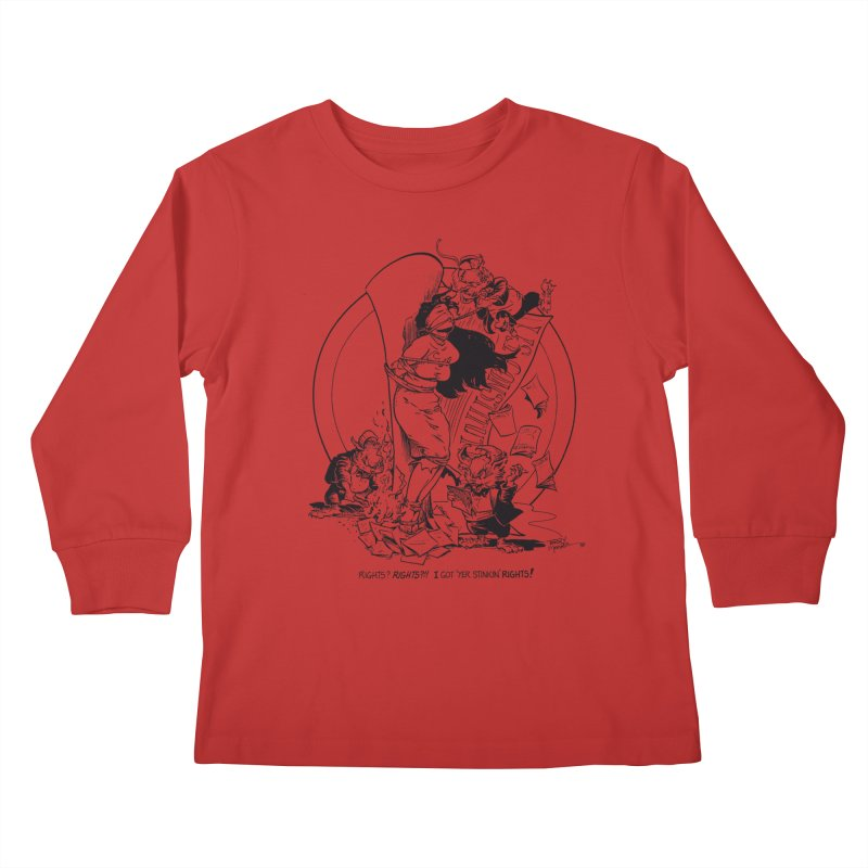 Terry Moore 1995 Kids Longsleeve T-Shirt by COMIC BOOK LEGAL DEFENSE FUND