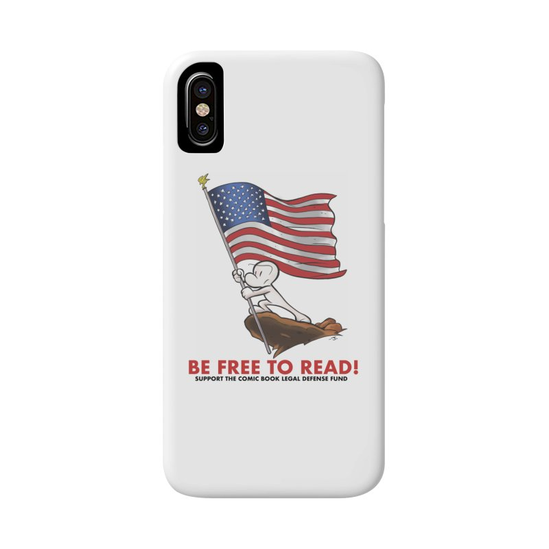 BONE with FLAG by JEFF SMITH Accessories Phone Case by COMIC BOOK LEGAL DEFENSE FUND