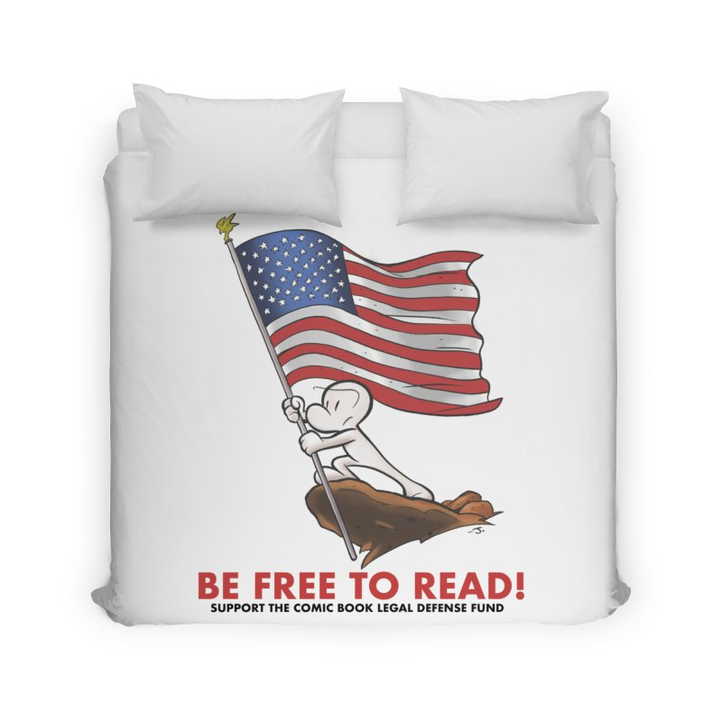 BONE with FLAG by JEFF SMITH Home Duvet by COMIC BOOK LEGAL DEFENSE FUND