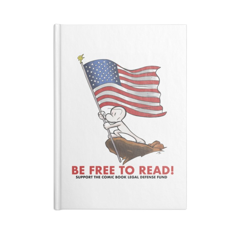 BONE with FLAG by JEFF SMITH Accessories Notebook by COMIC BOOK LEGAL DEFENSE FUND