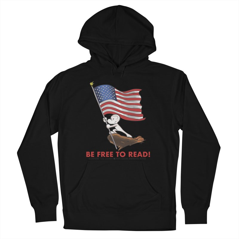 BONE with FLAG by JEFF SMITH Women's Pullover Hoody by COMIC BOOK LEGAL DEFENSE FUND