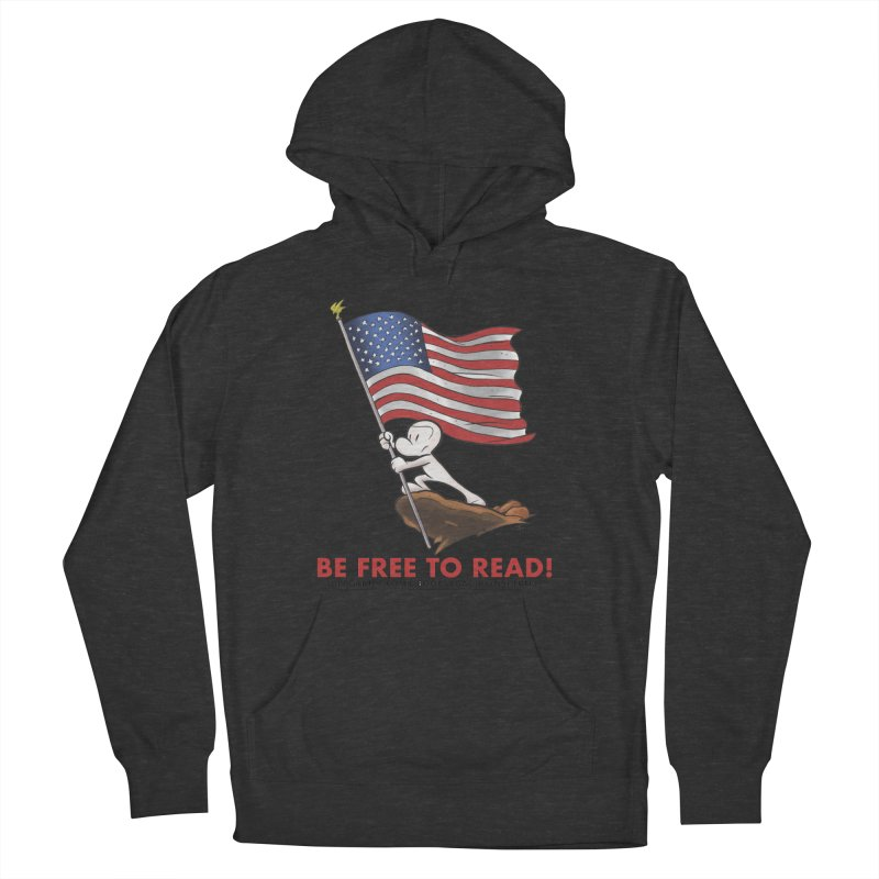BONE with FLAG by JEFF SMITH Men's Pullover Hoody by COMIC BOOK LEGAL DEFENSE FUND